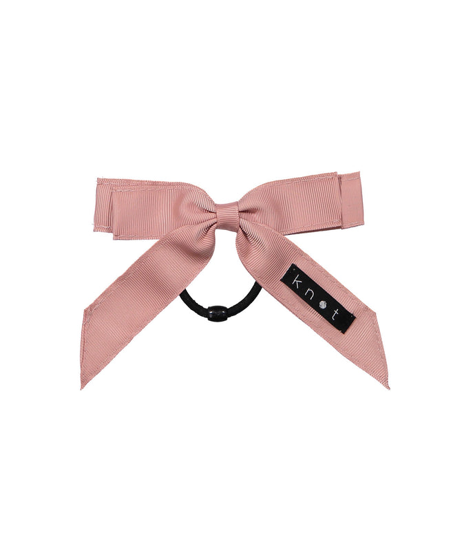 WAFFLE BOW PONY // Pink - KNOT Hairbands