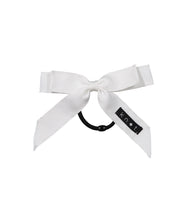 Load image into Gallery viewer, WAFFLE BOW PONY // White - KNOT Hairbands