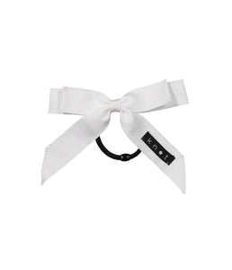 WAFFLE BOW PONY // White - KNOT Hairbands