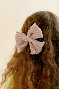 RUCHED BOW CLIP - KNOT Hairbands