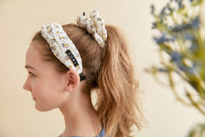 DAISY HEADBAND + SCRUNCHIE SET - KNOT Hairbands