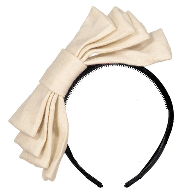 WIND Bow Headband // WINTER WHITE