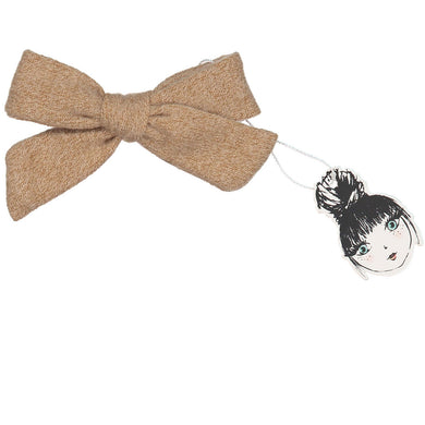 WOOL BOW CLIP - KNOT Hairbands