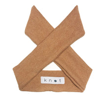 Load image into Gallery viewer, Wrap Bow Headwrap // Almond KNIT - KNOT Hairbands