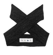 Load image into Gallery viewer, Wrap Bow Headwrap // Black KNIT - KNOT Hairbands