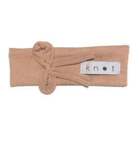 Bébé Bow Headwrap // Peach KNIT - KNOT Hairbands