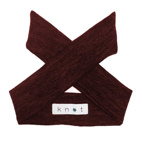 Wrap Bow Headwrap // Wine KNIT - KNOT Hairbands