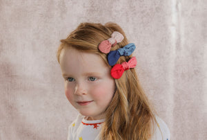 SCOOP BOW CLIP // Strawberry - KNOT Hairbands