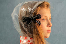 Load image into Gallery viewer, SPRINKLE BOW CLIP // Black - KNOT Hairbands