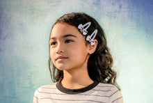 Load image into Gallery viewer, SUGAR BOW SNAP CLIP SET // Black - KNOT Hairbands