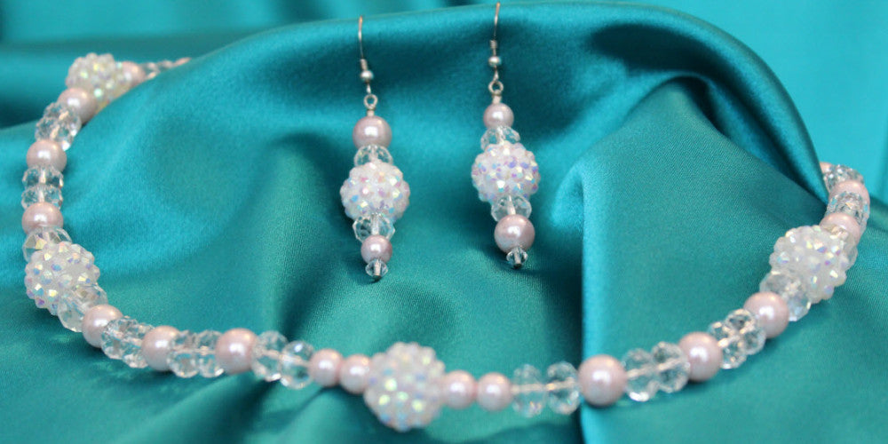 Paparazzi in Pink Necklace & Earring Set