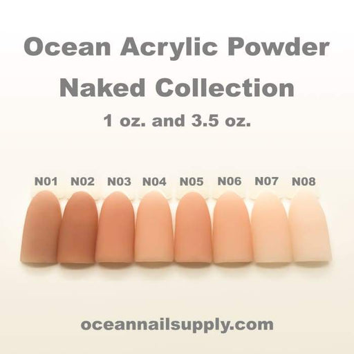 Ocean Acrylic Powder - Naked Collection - OceanNailSupply