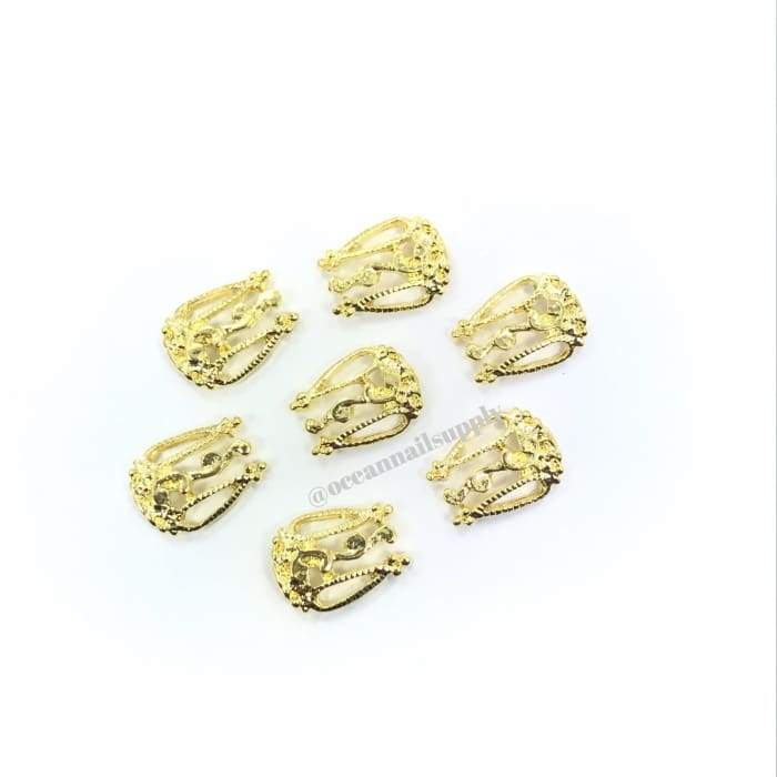 Charms - A001 Nail Shield Gold - OceanNailSupply
