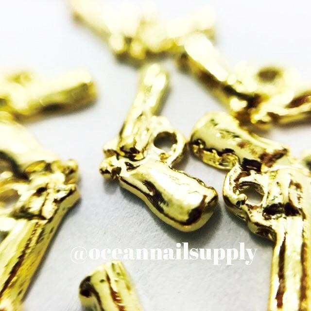 Charms - A022 Gold Gunn - OceanNailSupply