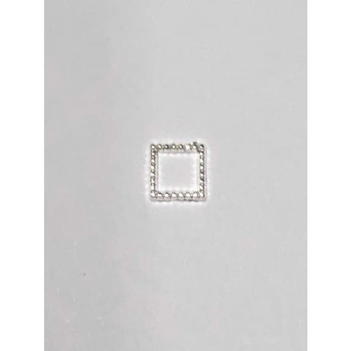 Charms - A195 (Textured Square - Silver) - OceanNailSupply