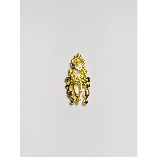 Charms - A313 Nail Shield Gold - OceanNailSupply