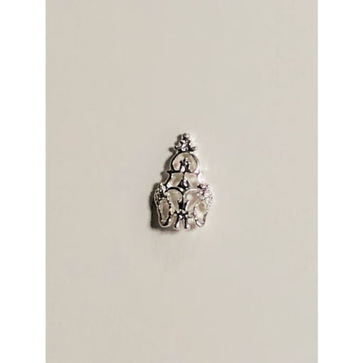 Charms - A316 Nail Shield Silver - OceanNailSupply