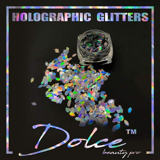 Dolce® Holographic Glitter - Marquise 4x2mm - OceanNailSupply