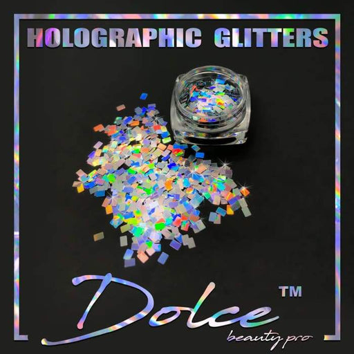 Dolce® Holographic Glitter - Rectangle 2x3mm - OceanNailSupply
