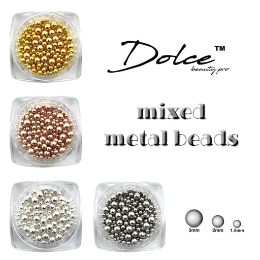 Dolce® Mixed Metal Beads - OceanNailSupply