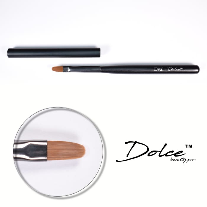 Dolce® Oval Brush - OceanNailSupply
