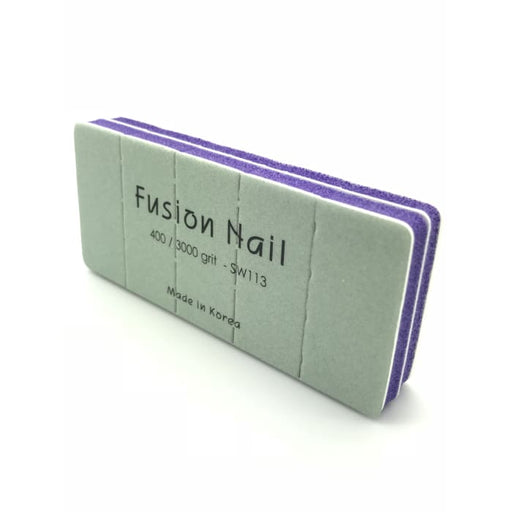 Fusion Nail 2 Sided Shiny Buffer 400/ 3000 Grit - OceanNailSupply
