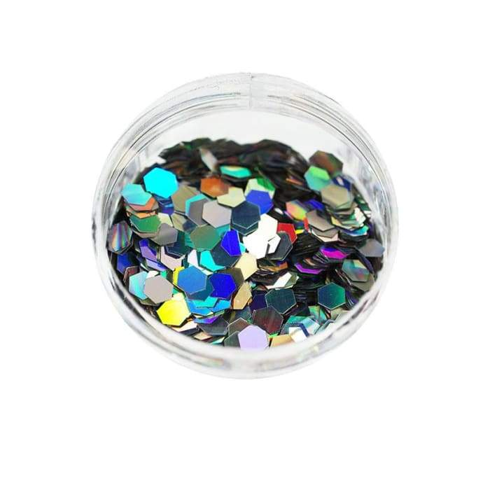 Holographic Glitter Silver 0.075 - OceanNailSupply