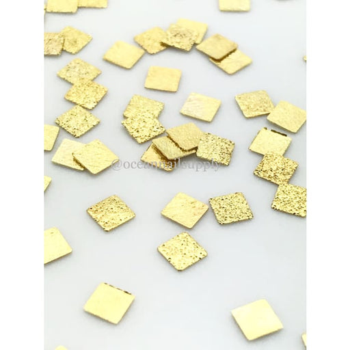 Japanese Stud Texture Square Flat [GOLD] - OceanNailSupply