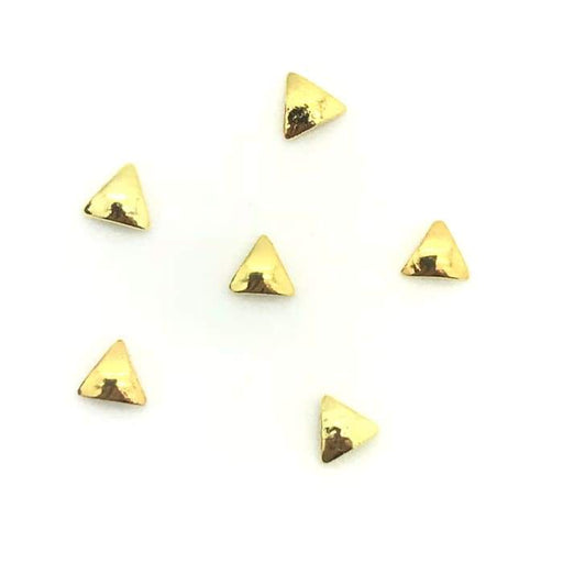 Japanese Stud Triangle Solid [Gold] - OceanNailSupply