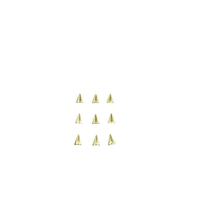 Japanese Studs Arrowhead rounded [GOLD] - OceanNailSupply