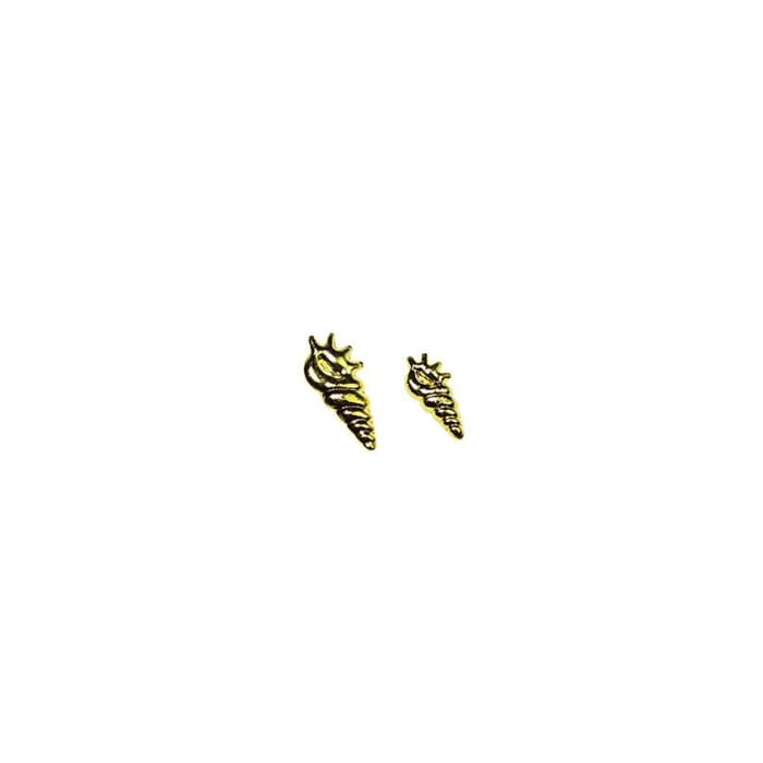 Japanese Studs Long Shell [GOLD] - OceanNailSupply