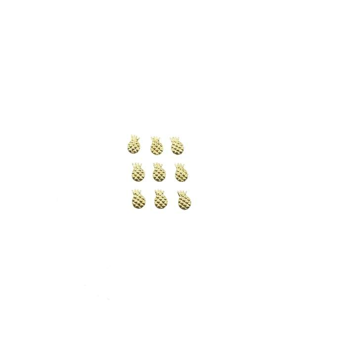 Japanese Studs Pineapple [GOLD] - OceanNailSupply