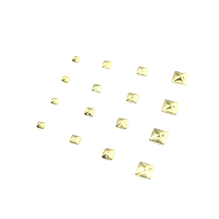Japanese Studs Square Pyramid [GOLD] - OceanNailSupply