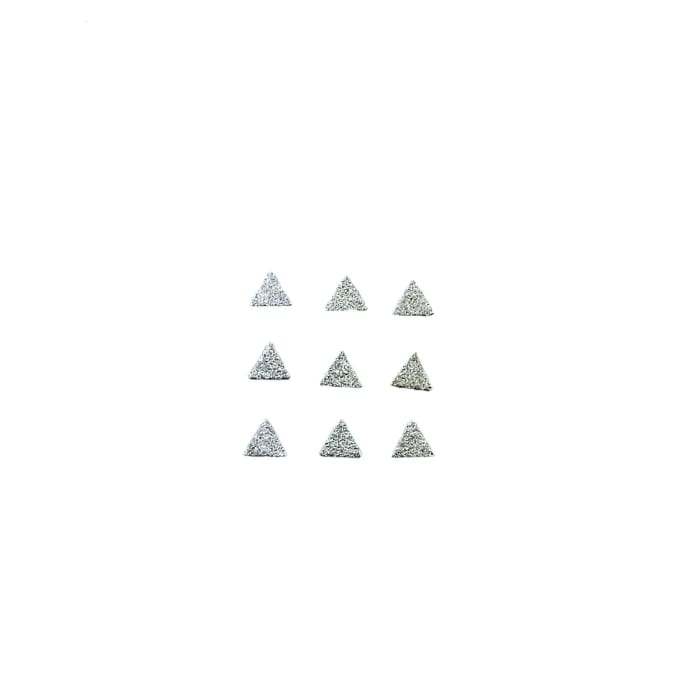 Japanese Studs Texture Triangle Flat [SILVER] - OceanNailSupply