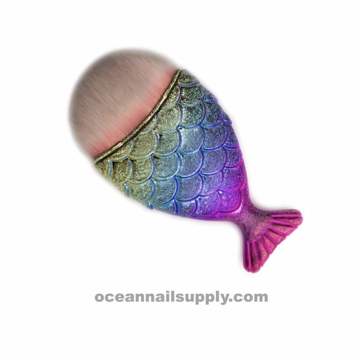 Mermaid Tail Dust Brush - OceanNailSupply