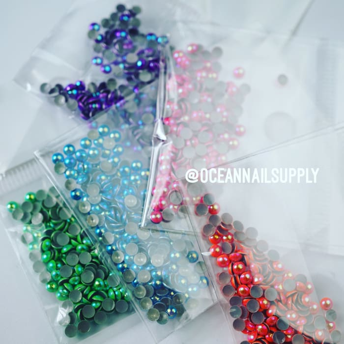 Metallic Neon Pearl Stud (Mixed Pack) - OceanNailSupply