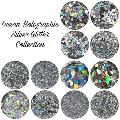 Ocean Holographic Silver Glitter Collection - OceanNailSupply