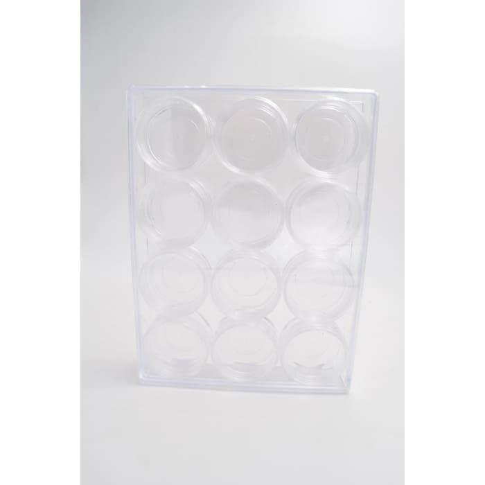 Plastic Case Storage with 12 Jars - OceanNailSupply