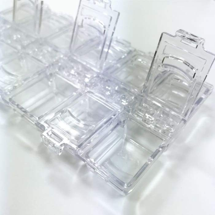 Plastic case storage with 12 slots for storage - OceanNailSupply