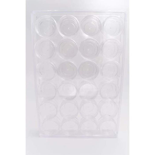 Plastic Case Storage with 24 Jars - OceanNailSupply