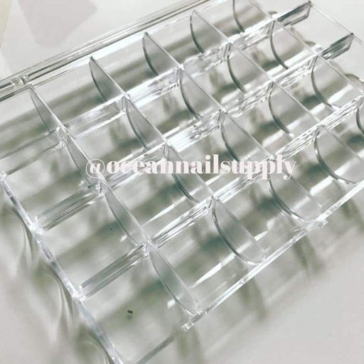 Plastic case storage with 24 slots for storage - OceanNailSupply