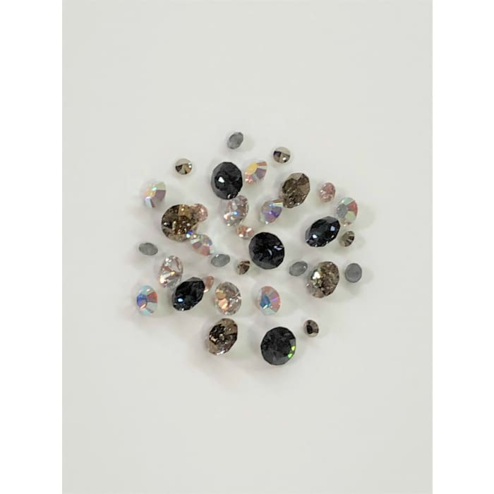 Swarovski Chaton Mix Pack - Black Swallowtail IV 246 pcs - OceanNailSupply