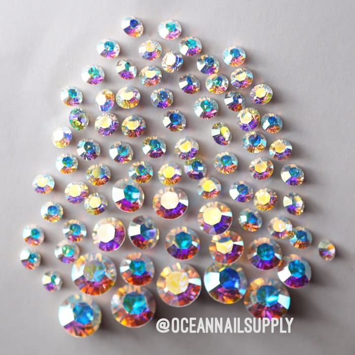 Swarovski Chaton Mixed pack AB llIl 90 pcs - OceanNailSupply