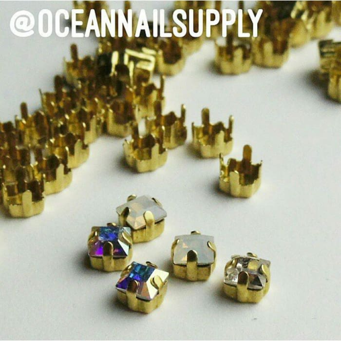 Swarovski Crystals Setting 4mm 20pcs - OceanNailSupply