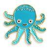 Night Owl Paper Goods - Octopus Enamel Pin - Crab Terror Island