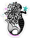 Mermaid And Starfish Decal - Crab Terror Island