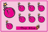 Tiny Sina F Bombs Sticker Sheet - Crab Terror Island