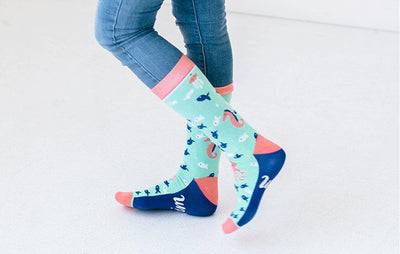 Woven Pear - Swim Mermaid Socks - Crab Terror Island