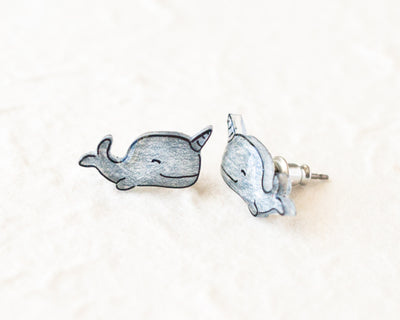 Narwhal Earrings - Crab Terror Island
