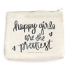Happy Girls Are The Prettiest Makeup Bag - Crab Terror Island